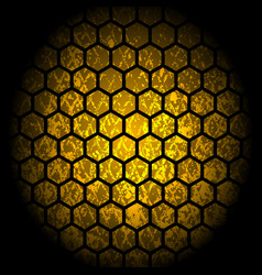 abstract honey comb pattern design with grunge vector image