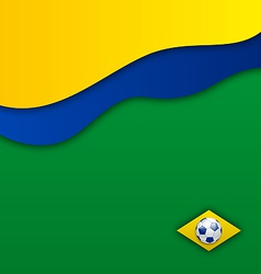 Abstract wavy background in Brazil flag concept vector