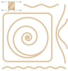 Beige rope elements vector