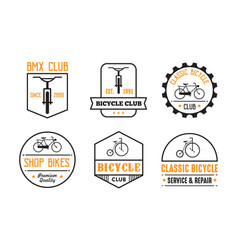 bicycle badge and logo good for print vector image