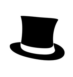 black top hat gentleman cylinder hat vector image