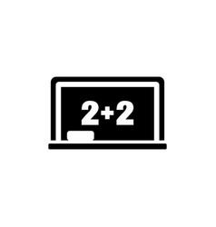 blackboard math lesson flat icon vector image