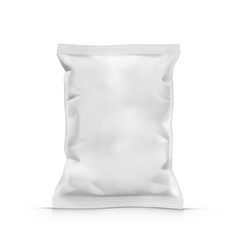 Blank crumpled foil or paper food pouch sachet vector