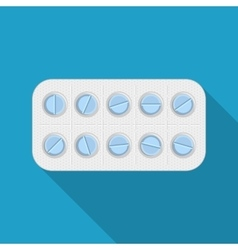 Blister pack of pills vector