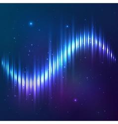 Blue shining cosmic equalizer vector image