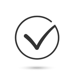 Check mark Flat icon Black button for web vector image