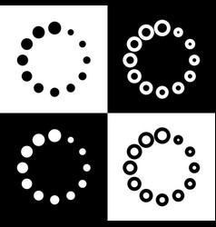 circular loading sign black and white vector image