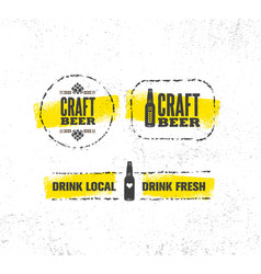 Craft beer brewery artisan creative sign vector