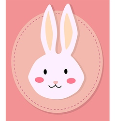 Cute Rabbit Head Cartoon vector image