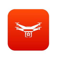 drone video camera icon digital red vector image