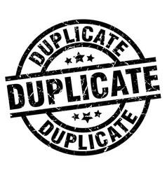 Duplicate round grunge black stamp vector