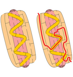 easy hot dog maze vector image
