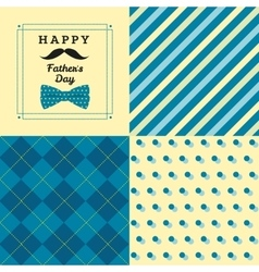 Fathers day greating card with man pattern and vector