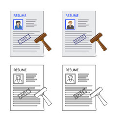 Form and document logo vector