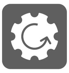 Gear Rotation Flat Squared Icon vector