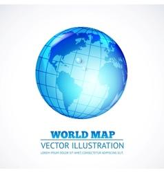 globe inside water drop vector image