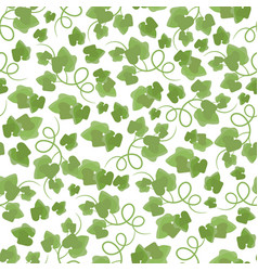 green leaves hand drawn seamless pattern vector image