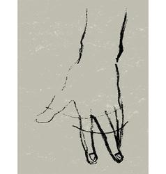 Hand rotation sketch vector