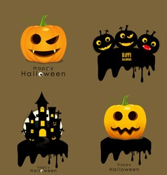 Happy Halloween background with Halloween pumpkin vector