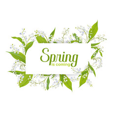 Hello spring floral card for holidays decoration vector