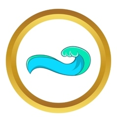 High sea wave icon vector