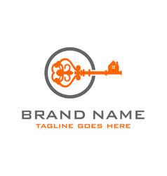 House key logo vector