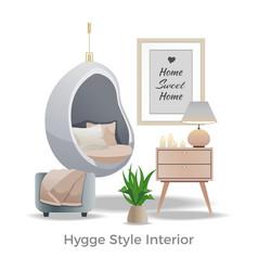Hygge style interior element vector