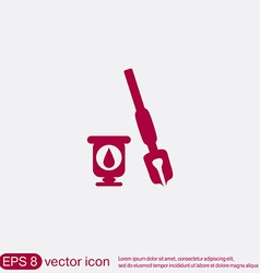 icon pen with ink vector image