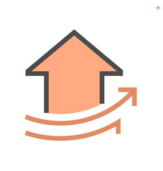 increase concept design real estate icon vector image