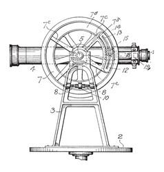 Instrumentation for survey vintage vector