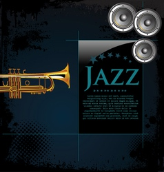 Jazz background poster vector image