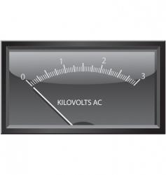 Kilovolts gauge vector