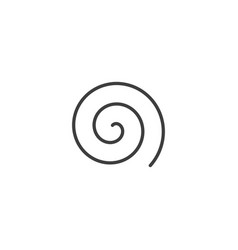 Large linear spiral archimedean spiral black vector