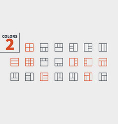 Layout ui pixel perfect well-crafted thin vector