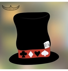 Mad Hatter Hat from Wonderland vector