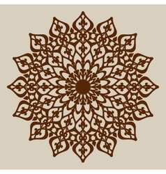 Mandala template for cutting decorative rosette vector