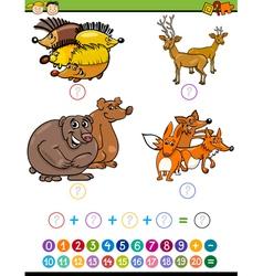 mathematical task for preschoolers vector image