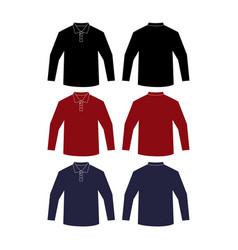 mockup a plain length-neck shirt vector image
