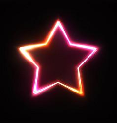 neon sign stars background bright design vector image