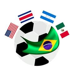 North America Qualification in A Brazil 2014 vector