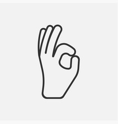 Ok icon isolated on white background vector