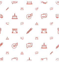 Pictograph icons pattern seamless white background vector