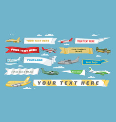 plane banner airplane or aircraft with vector image