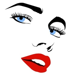 Pretty woman face vector image
