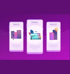 Public transport travel pass card app interface vector