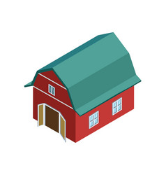 Rural farm barn isometric 3d element vector