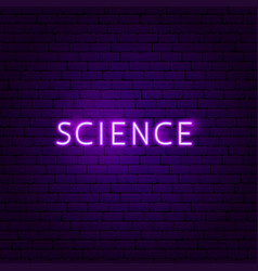 science text neon label vector image