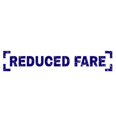 Scratched textured reduced fare stamp seal inside vector
