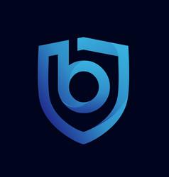 Shield b logo design template vector