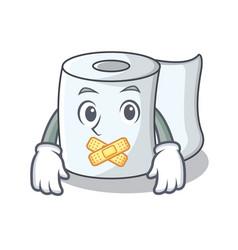 Silent tissue character cartoon style vector